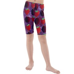Strawberries And Plums  Kid s swimwear