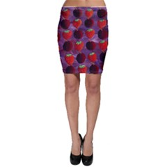 Strawberries And Plums  Bodycon Skirts