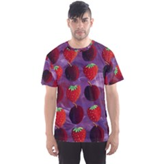 Strawberries And Plums  Men s Sport Mesh Tees