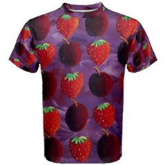Strawberries And Plums  Men s Cotton Tees