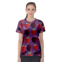 Strawberries And Plums  Women s Sport Mesh Tees