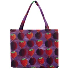 Strawberries And Plums  Tiny Tote Bags