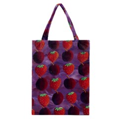 Strawberries And Plums  Classic Tote Bags