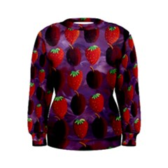 Strawberries And Plums  Women s Sweatshirts