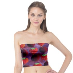 Strawberries And Plums  Women s Tube Tops