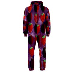 Strawberries And Plums  Hooded Jumpsuit (Men)