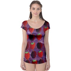 Strawberries And Plums  Short Sleeve Leotard
