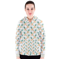 Pineapple Pattern 04 Women s Zipper Hoodies