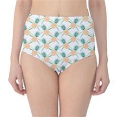 Pineapple Pattern 04 High-Waist Bikini Bottoms