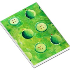 Apples In Halves  Large Memo Pads