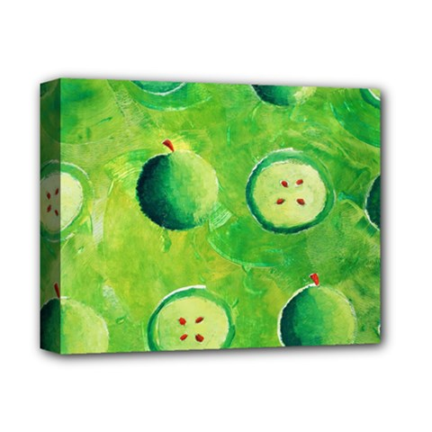 Apples In Halves  Deluxe Canvas 14  x 11
