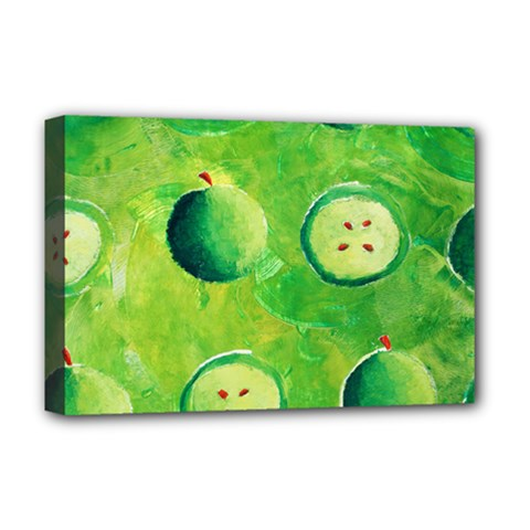 Apples In Halves  Deluxe Canvas 18  x 12