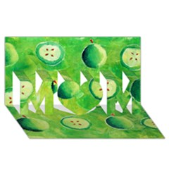 Apples In Halves  MOM 3D Greeting Card (8x4)