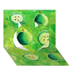 Apples In Halves  Heart 3d Greeting Card (7x5)
