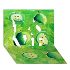 Apples In Halves  LOVE 3D Greeting Card (7x5)