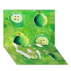 Apples In Halves  LOVE Bottom 3D Greeting Card (7x5)