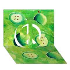 Apples In Halves  Peace Sign 3d Greeting Card (7x5)