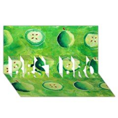 Apples In Halves  BEST BRO 3D Greeting Card (8x4)