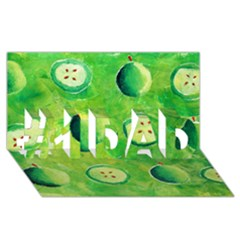 Apples In Halves  #1 DAD 3D Greeting Card (8x4)