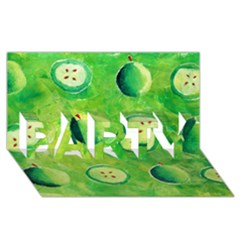 Apples In Halves  PARTY 3D Greeting Card (8x4)