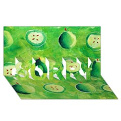 Apples In Halves  SORRY 3D Greeting Card (8x4)