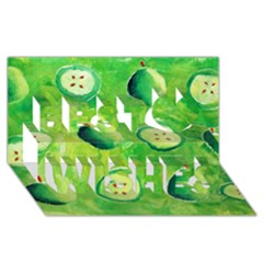 Apples In Halves  Best Wish 3D Greeting Card (8x4)