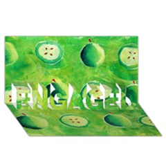Apples In Halves  ENGAGED 3D Greeting Card (8x4)