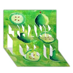 Apples In Halves  THANK YOU 3D Greeting Card (7x5)