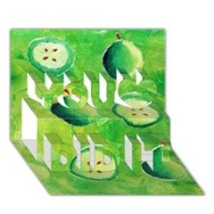 Apples In Halves  You Did It 3D Greeting Card (7x5)