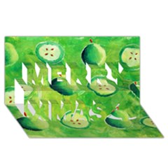 Apples In Halves  Merry Xmas 3D Greeting Card (8x4)