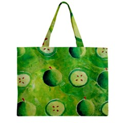 Apples In Halves  Zipper Tiny Tote Bags