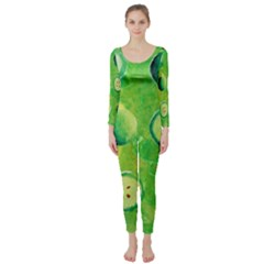 Apples In Halves  Long Sleeve Catsuit