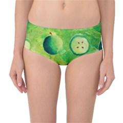 Apples In Halves  Mid-Waist Bikini Bottoms