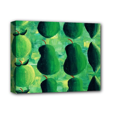 Apples Pears And Limes  Deluxe Canvas 14  x 11