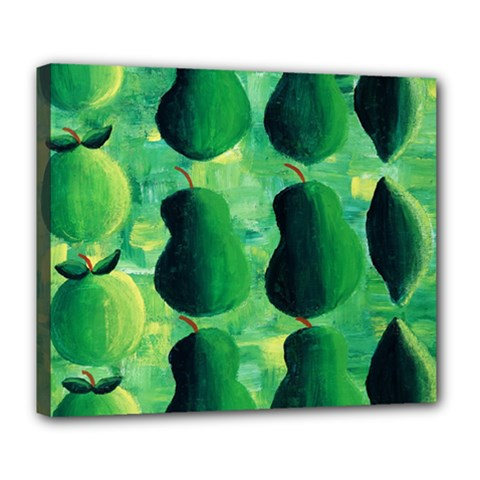 Apples Pears And Limes  Deluxe Canvas 24  x 20