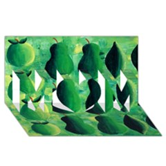 Apples Pears And Limes  MOM 3D Greeting Card (8x4)