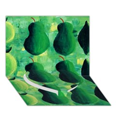 Apples Pears And Limes  Heart Bottom 3d Greeting Card (7x5)