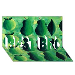 Apples Pears And Limes  Best Bro 3d Greeting Card (8x4)