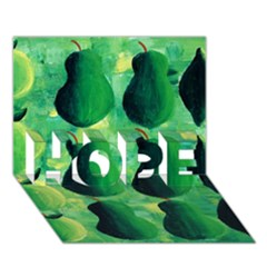 Apples Pears And Limes  Hope 3d Greeting Card (7x5)