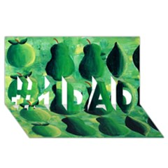Apples Pears And Limes  #1 DAD 3D Greeting Card (8x4)