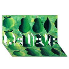 Apples Pears And Limes  Believe 3d Greeting Card (8x4)