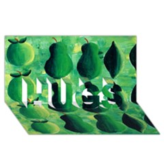 Apples Pears And Limes  Hugs 3d Greeting Card (8x4)