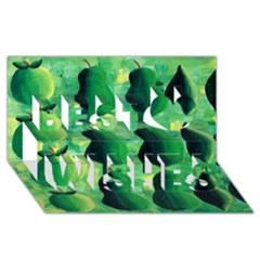 Apples Pears And Limes  Best Wish 3d Greeting Card (8x4)