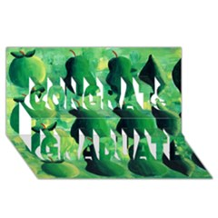 Apples Pears And Limes  Congrats Graduate 3d Greeting Card (8x4)