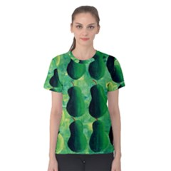 Apples Pears And Limes  Women s Cotton Tees