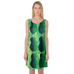 Apples Pears And Limes  Sleeveless Satin Nightdresses