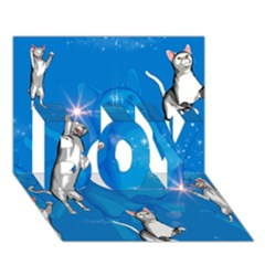 Funny, Cute Playing Cats With Stras BOY 3D Greeting Card (7x5)