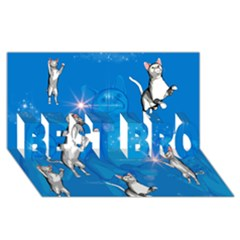 Funny, Cute Playing Cats With Stras Best Bro 3d Greeting Card (8x4)