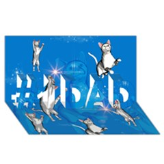Funny, Cute Playing Cats With Stras #1 Dad 3d Greeting Card (8x4)