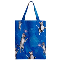 Funny, Cute Playing Cats With Stras Zipper Classic Tote Bags